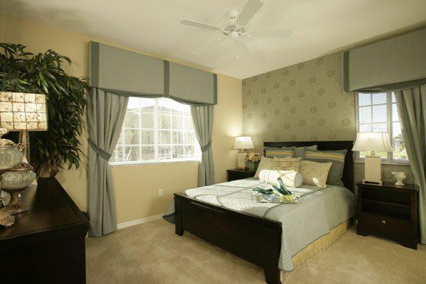 One bedroom model bedroom at Kitterman Woods