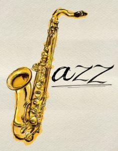 Jazz Saxophone Painting