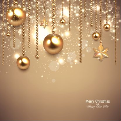 Elegant Christmas background with golden ornamentsThinkstockPhotos-181221550