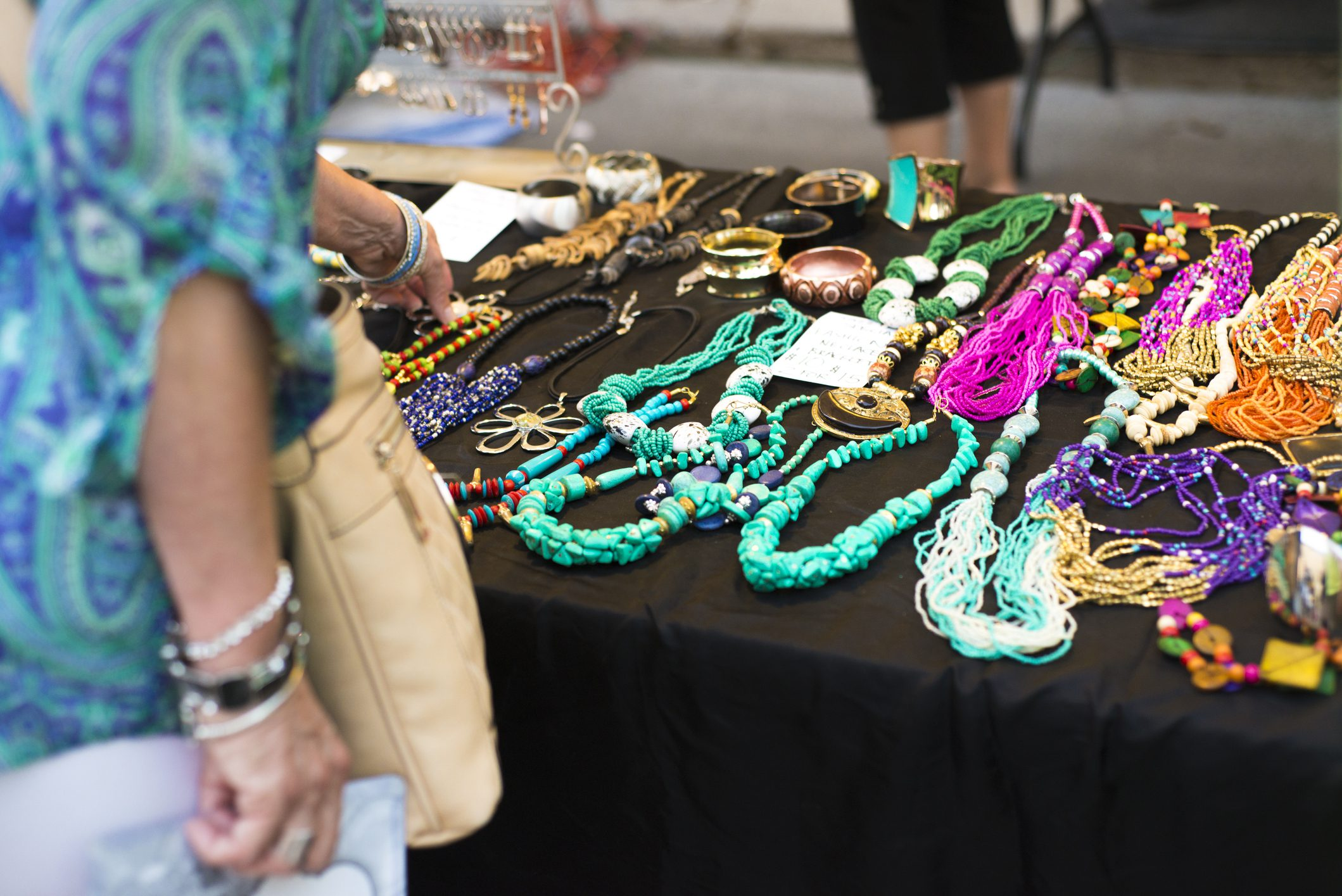 Jewelry on display at festival