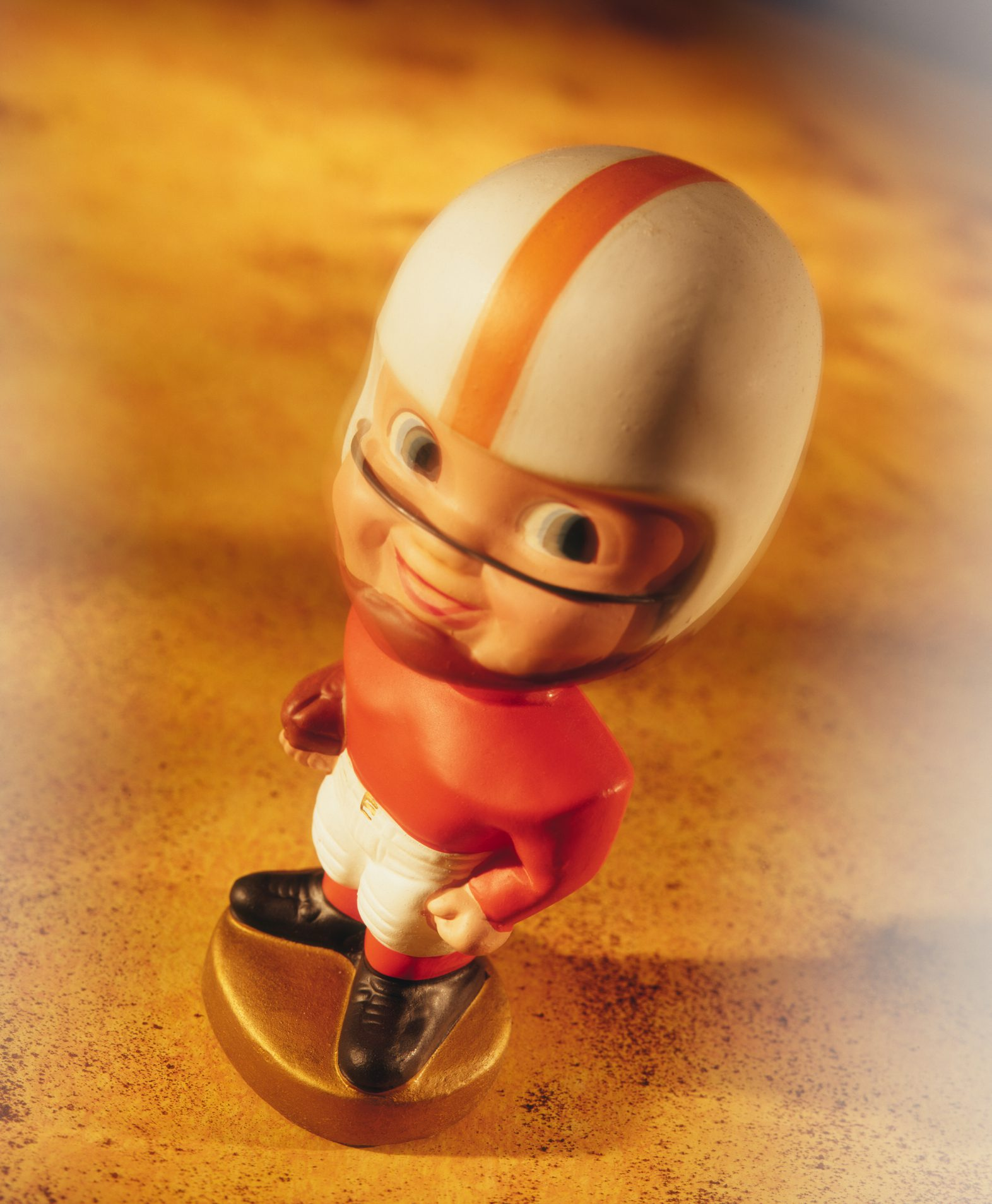 Vintage football player bobblehead
