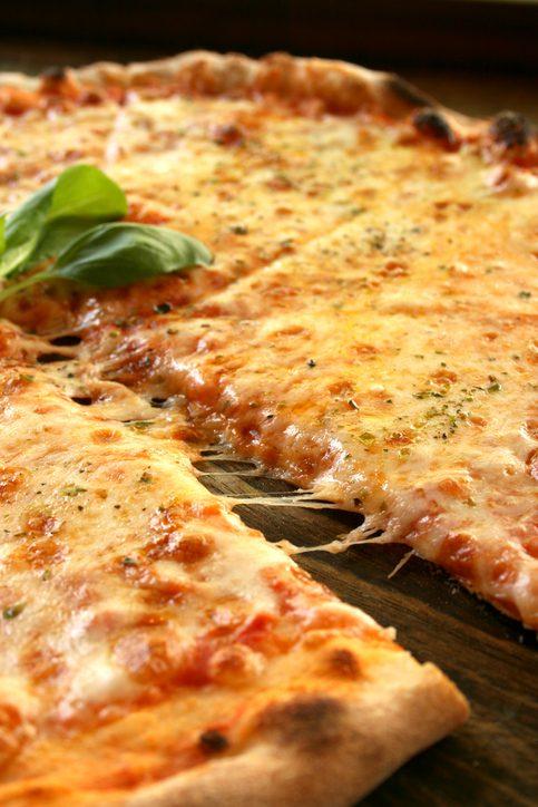 Tasty pizza margharita slice
