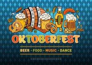 Horizontal banner for the festival Oktoberfest