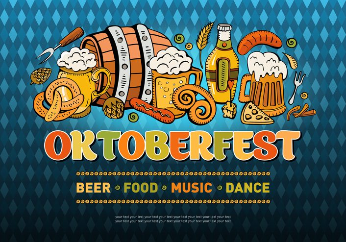 Horizontal banner for the festival Oktoberfest
