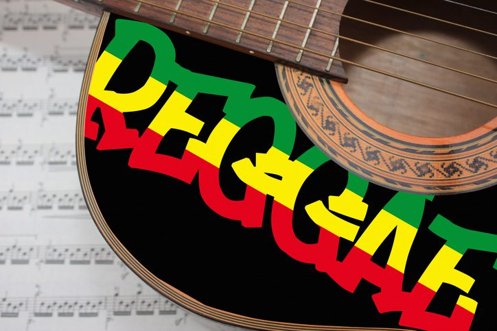 Reggae Music Acoustic guitar
